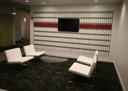 Reception area product feature.